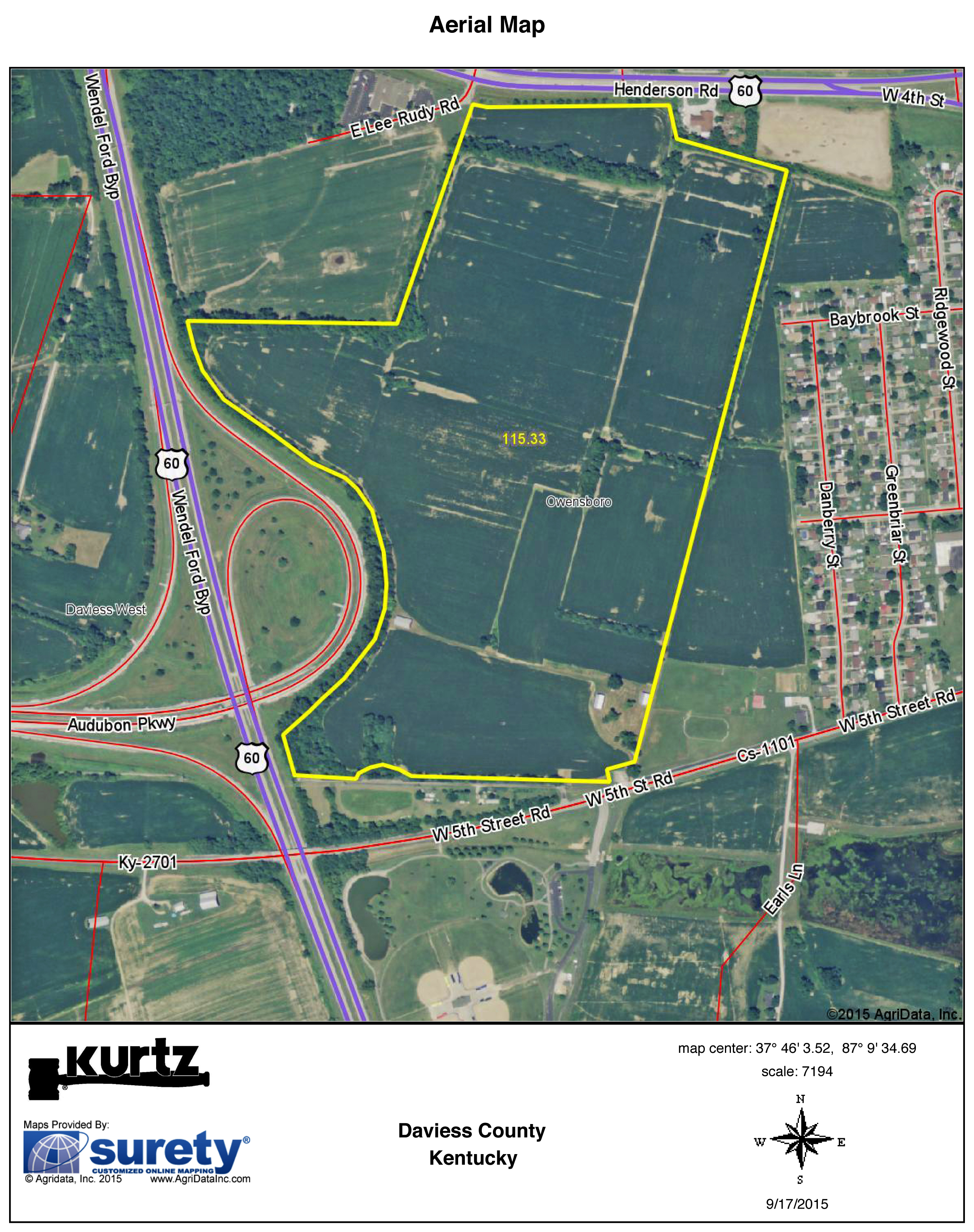 Land inside the owensboro ky bypass kurtz auction realty co auction info publicscrutiny Choice Image