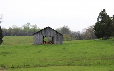 Stock barn on tract 3